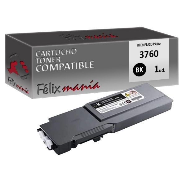 Toner Negro Compatible Dell 3760