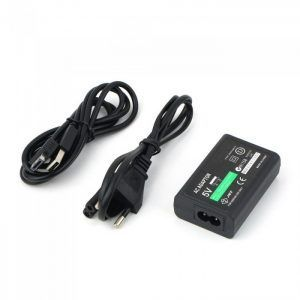 Cargador Corriente Adaptador Convertidor para Sony PS Vita + cable datos USB