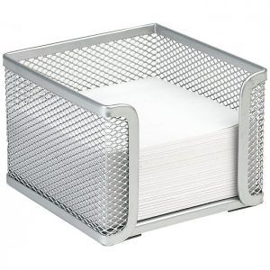 Cubo Portanotas Plus Office 710 Trasparente Metacrilato 95 x 80 x 95 mm 400 h.