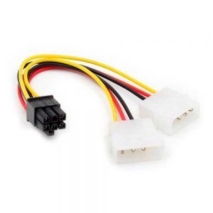 Cable Tarjeta Grafica PCI Express 6 Pines Hembra a 2x Molex LP4