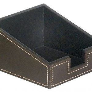 Portanotas en Simil-Piel para Escritorio 115 x 115 x 65 mm Marron
