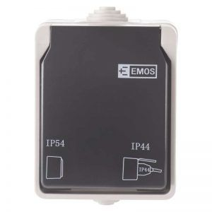 Enchufe montado en la pared 16A / 250V IP44
