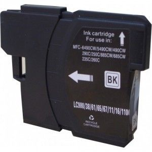 Cartucho Negro Brother LC-980 LC-1100 Compatible