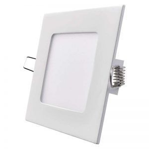 Panel LED 120 × 120 mm cuadrado, incorporado, blanco cálido 6W