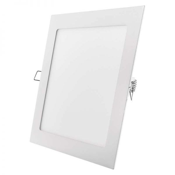 Panel LED 220 × 220 mm cuadrado, incorporado, 18 W blanco cálido