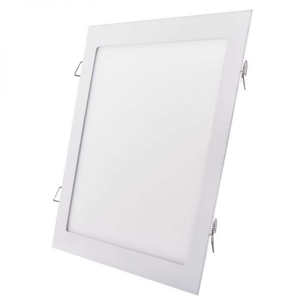 Panel LED de 300 × 300 mm cuadrados, incorporado, blanco neutro