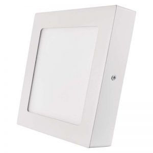 Panel LED 170 × 170 mm, adjunto, blanco, 12W blanco cálido