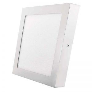 Panel LED 225 × 225 mm, conectado, blanco, blanco cálido de 18 W