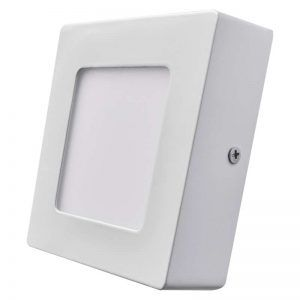 Panel LED 120 × 120 mm, adjunto, blanco, 6W blanco neutro