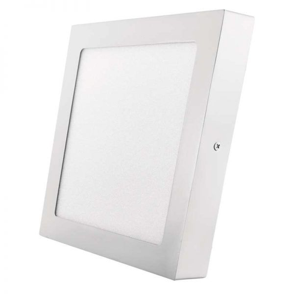 Panel LED 224 × 224 mm, adjunto, blanco, 18 W blanco neutro