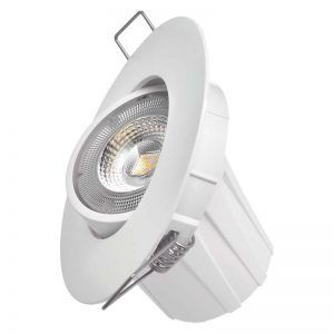 Foco LED techo empotrable, Exclusivo blanco, 8W blanco cálido