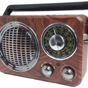 Radio Clasica Altavoz Bluetooth MP3 SD AUX, Luz Estilo Vintage Retro