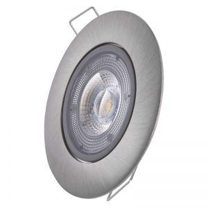 Foco LED Exclusivo plateado, redondo, 5W blanco neutro