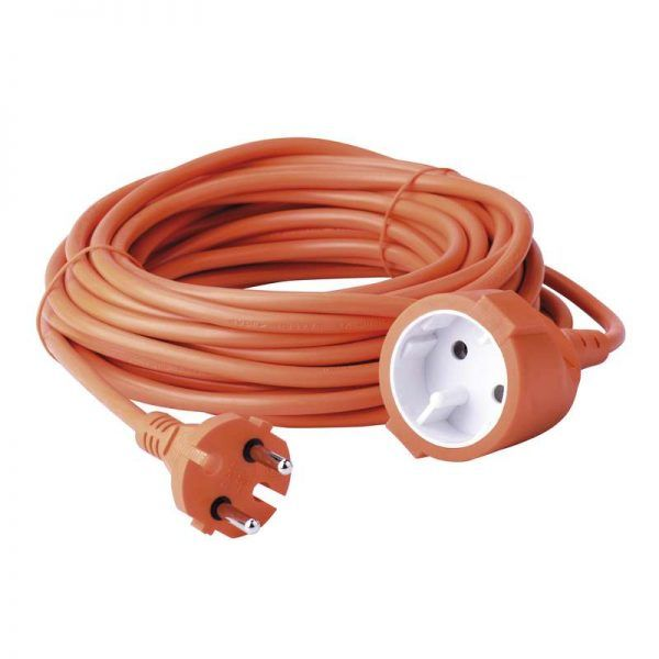 Cable extension Alargadera 20 Metros para 230 V, Color naranja