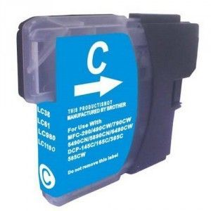 Cartucho Cyan Brother LC-980 LC-1100 Compatible