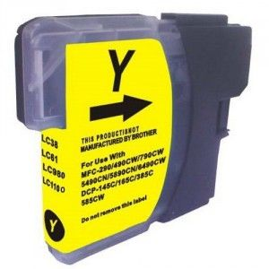 Cartucho Amarillo Brother LC-980 LC-1100 Compatible