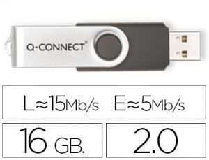 Memoria usb q-connect flash 16 gb 2.0.
