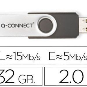 Memoria usb q-connect flash 32 gb 2.0.