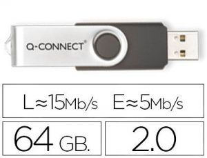 Memoria usb q-connect flash 64 gb 2.0.