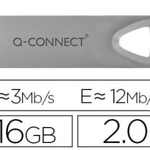 Memoria usb q-connect flash premium 16 gb 2.0.