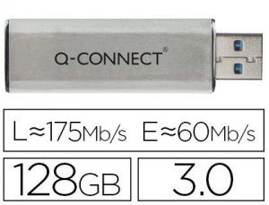 Memoria usb q-connect flash 128 gb 3.0.