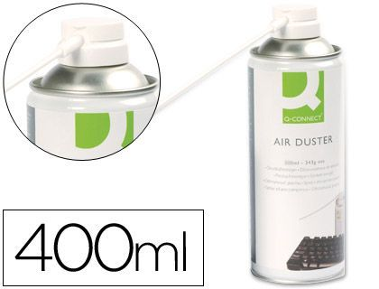 Aire a presion q-connect para limpieza general 400 ml.