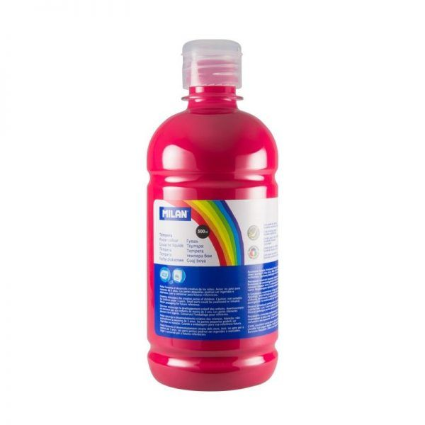 Botella témpera 500 ml magenta