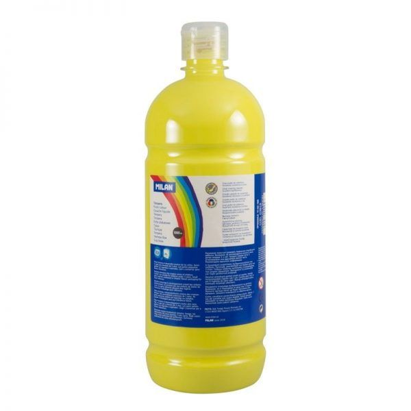 Botella témpera 1000 ml amarillo