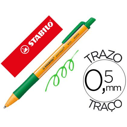 Boligrafo stabilo pointball 0,5 mm color verde (10 Ud.)