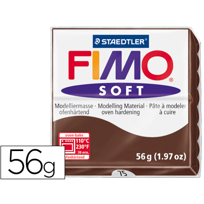 Pasta Fimo Soft 56gr Chocolate